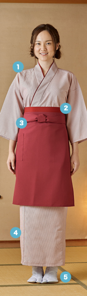 作務衣+スカートで本格 和風スタイルを 簡単コーデ
