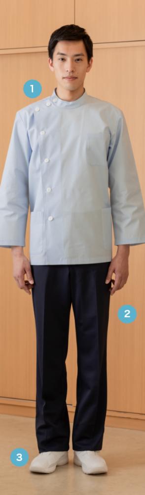 定番のKCコート 明るいサックスカラーで 清潔感が際立ちます